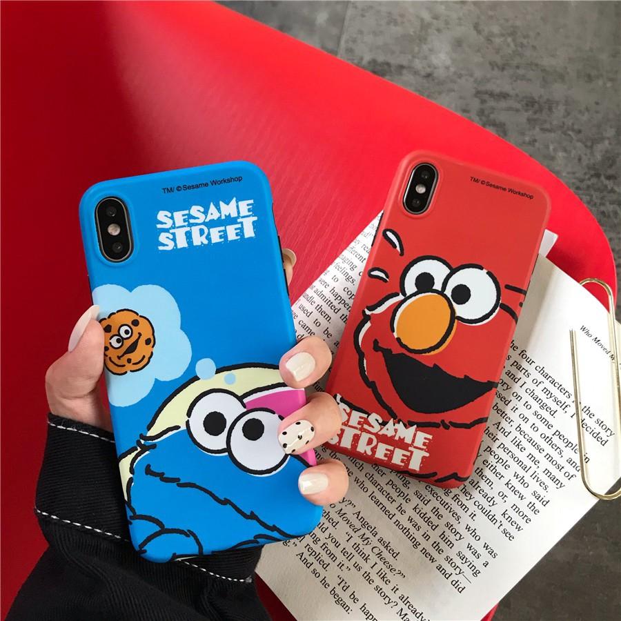 iPhone X XS Max XR 7 8 Plus 6 6S Plus Cute Cartoon Sesame Street Soft Case
