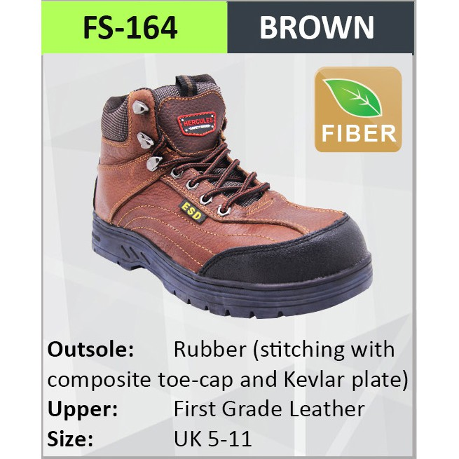 Hercules ESD Safety Shoes Safety Boot Cow Leather SIzes 3-13 8500 ... 4f1881458d