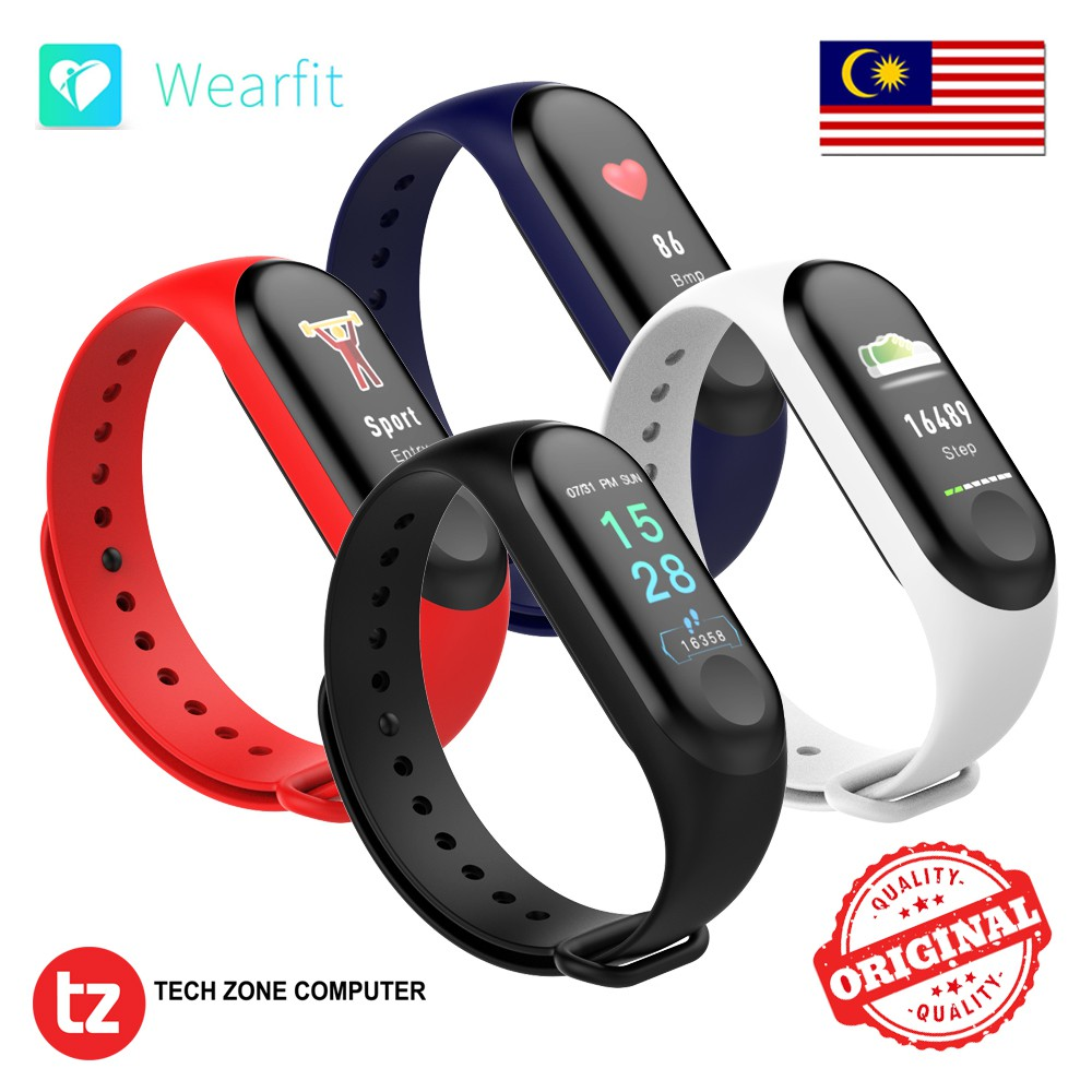 Original Wearfit F1 Plus Color Display Fitness Tracker Smart Watch Wristband Bracelet Screen Shopee Malaysia