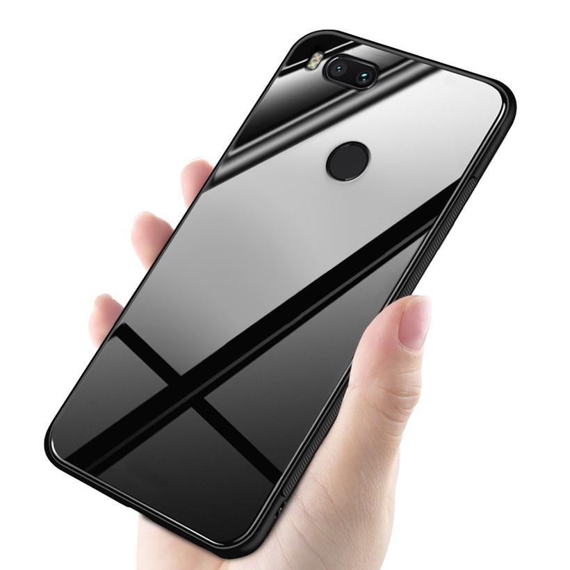 buy online 870a4 85ce2 Glass Cases Xiaomi Mi A1 MiA1 Mi 5X Cover TPU Phone Case Silicone