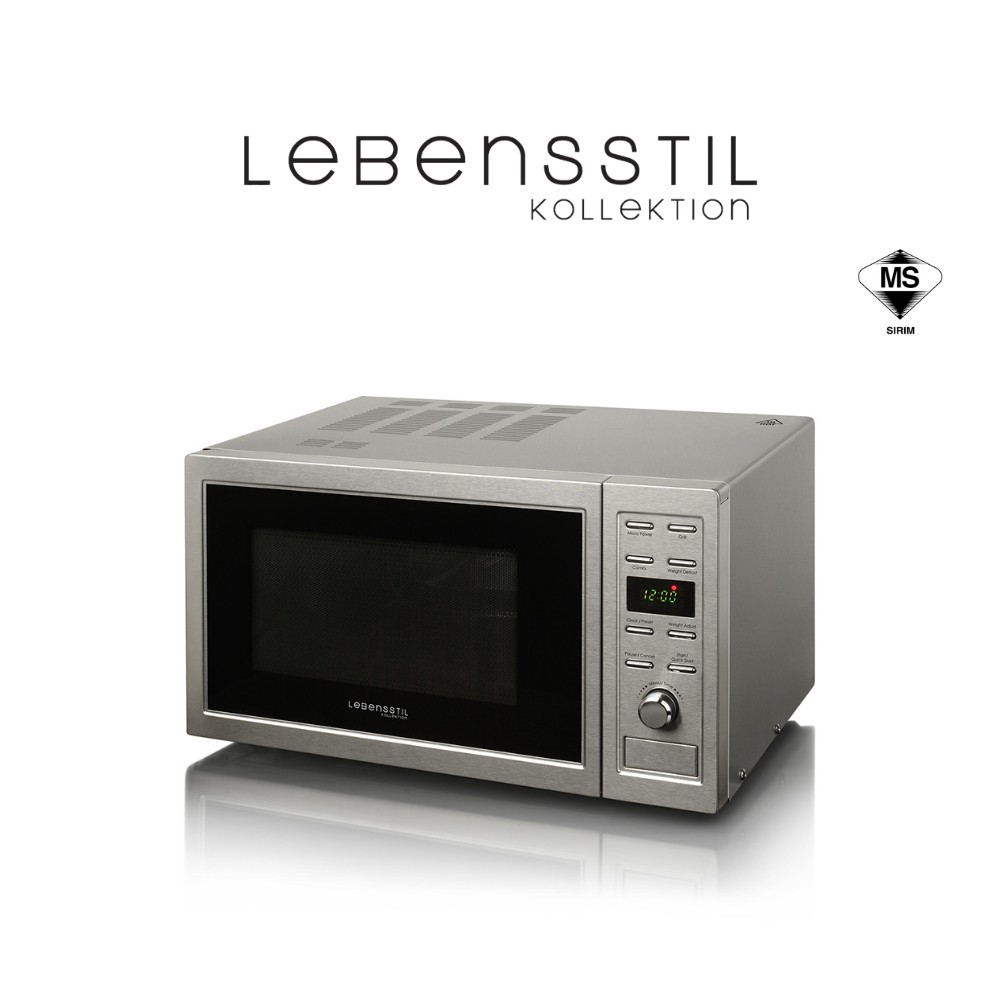 Lebensstil Microwave (23L) 9 Auto Cook Menu, Microwave LKMW-2301SS