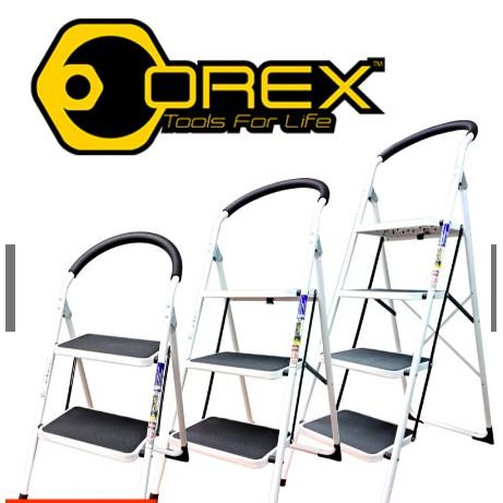 OREX 2/3/4 Step Household Steel Ladder with Handle Grip