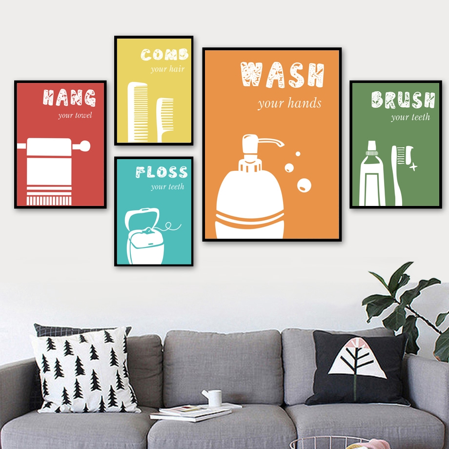 retro toilet decorative bar funny poster toilet decorative painting wall  GN