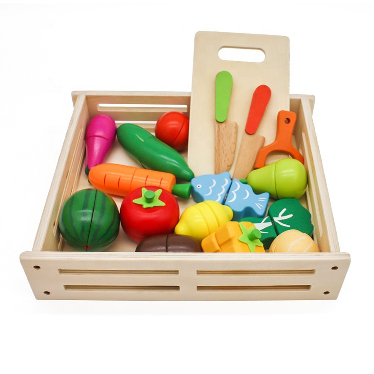 vegetable toys cutting wooden