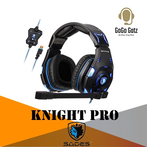 {SD-KNIGHT-PRO-BLUE} Sades Knight Pro Professional Gaming Headset-PS4/PS5,PC