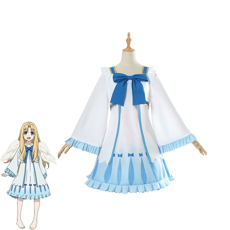Anime The Rising of the Shield Hero Cosplay Costume Filo White Dresses for  Women