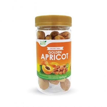 Love Earth Organic Dried Golden Apricot with Kernel 乐儿天然黄金杏干 160g