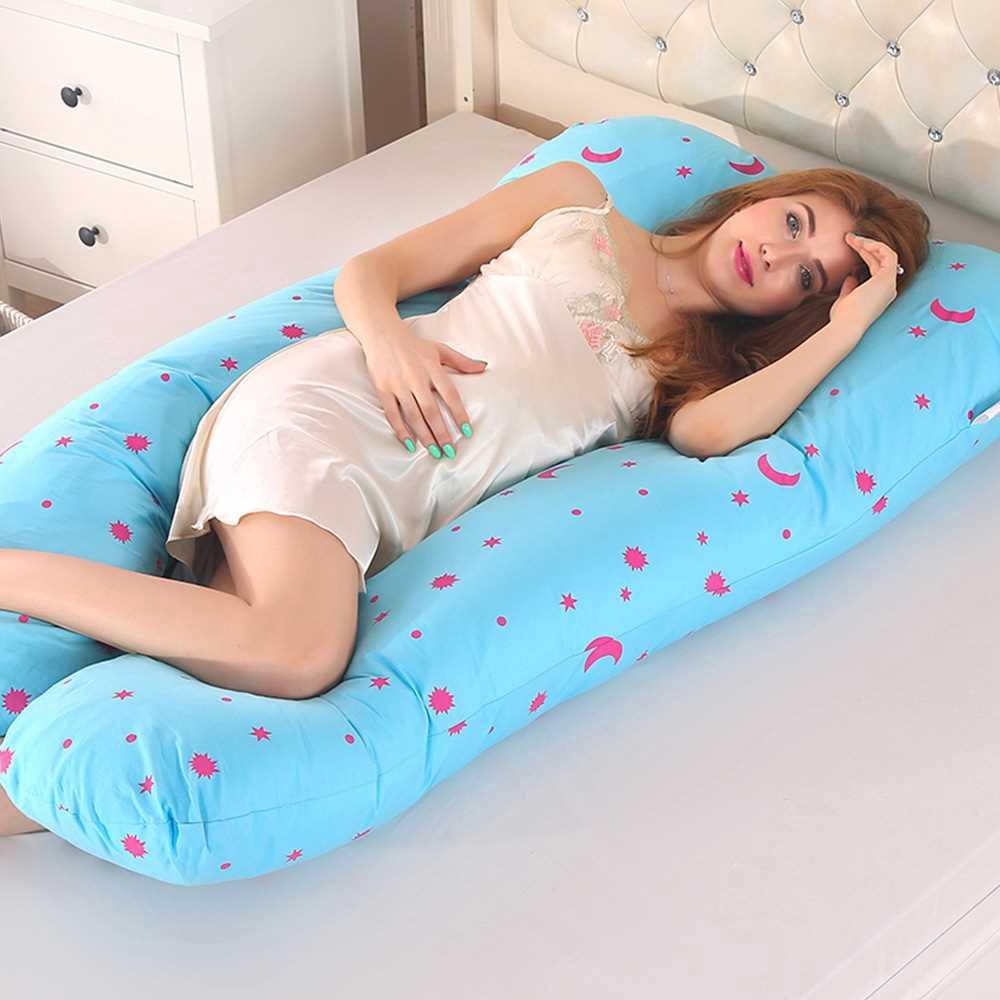 Pregnancy Pillow for Side Sleeper Pregnant Women (Light Sky Blue)
