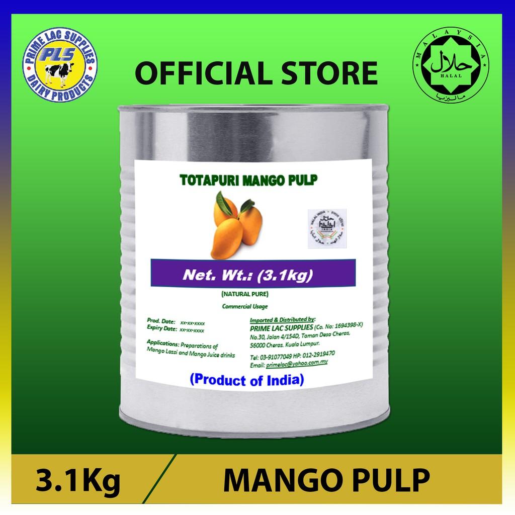 Mango Pulp Totapuri (3.1 kg) Mango Lassi