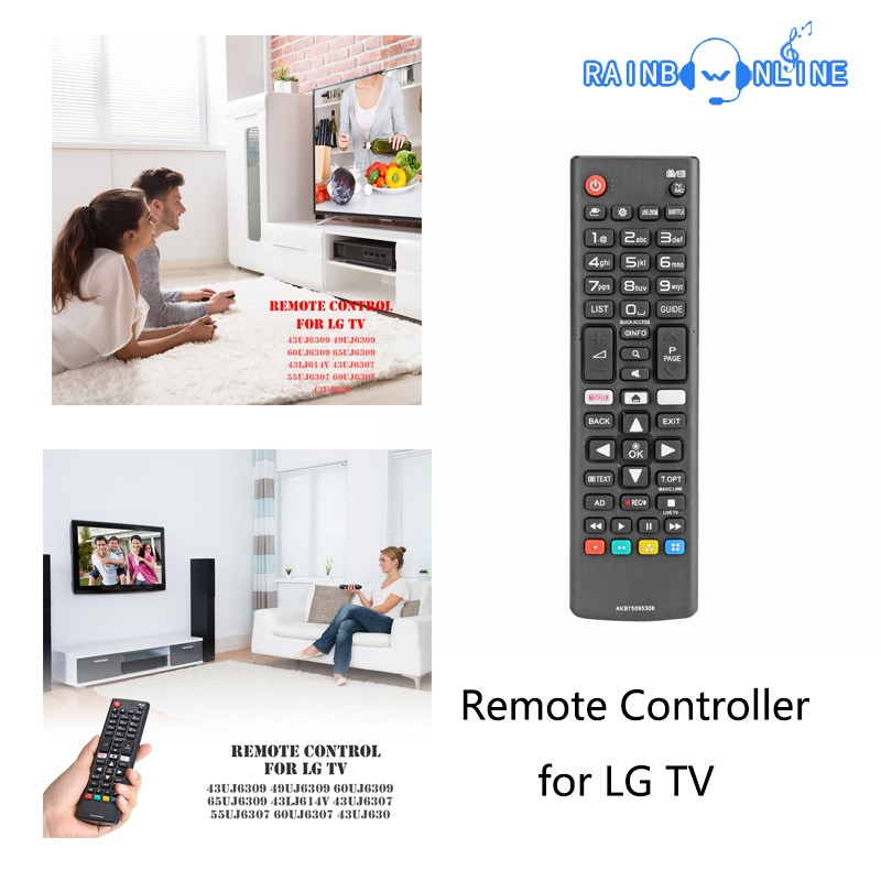 Smart TV Remote Controller ABS Universal Replacement AKB75095308 for Smart  LG TV