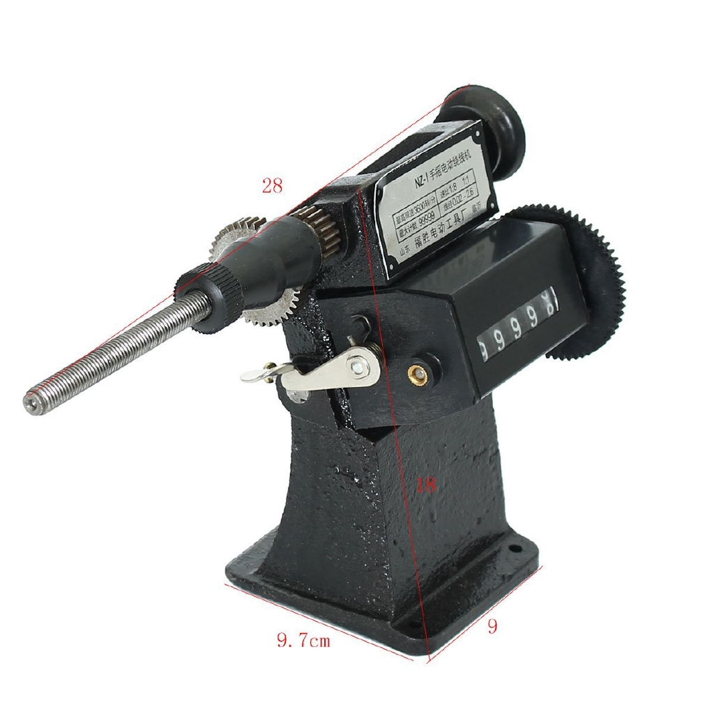 Dual-purpose Manual Hand Coil Counting /& Winding Machine 0-99999 9.7x9x18cm