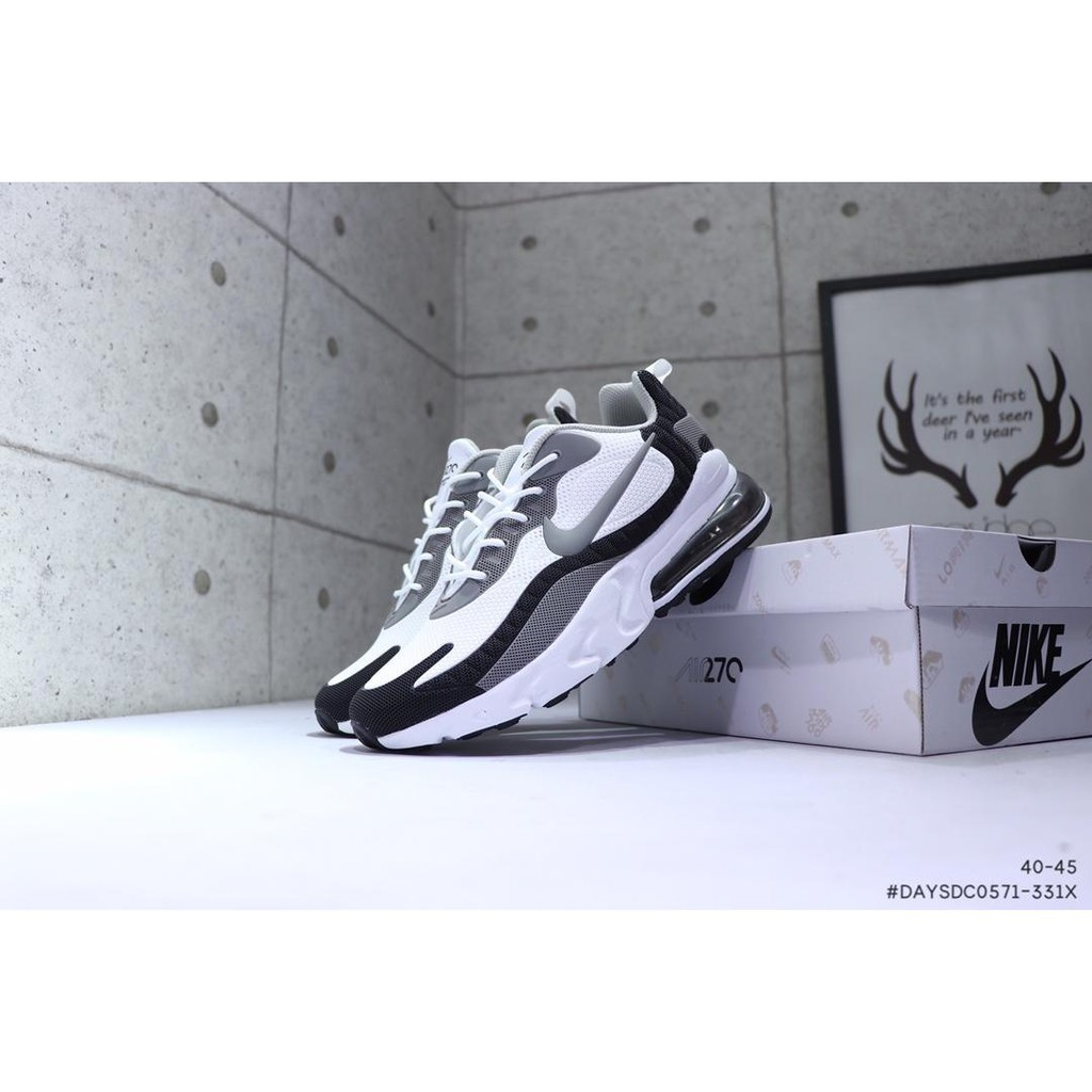 Youts Nike Air Max 270 React White New Fashion Drop Plastic Edition Air Cushion Sneakersshoes for men's and women's