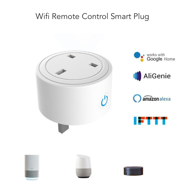 Mini Smart Plug WiFi Sockets Power Socket works with Alexa, Google Home,  IFTTT  Not Hub Required