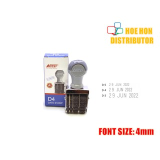 Rubber Date Stamp D4 Font Size 4mm