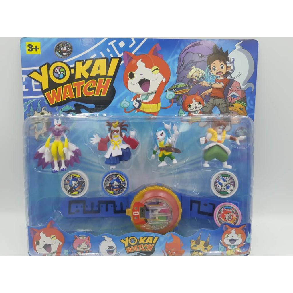 Ready Stock SET YOKAI Watch with Sound & Light Yo-Kai Gift Toy (no projector function), jam kanak-kanak.
