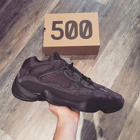 size 40 083bb 02403 Adidas Yeezy 500 Blush Ultimate Black Inspired
