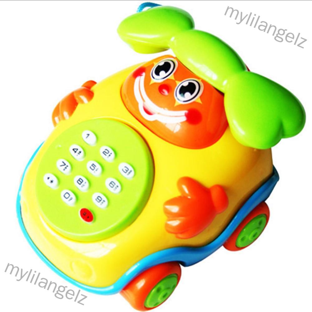Mylilangelz Children Cute Cartoon Music Phone/Bus Mini Funny Sound Light Educational Toy