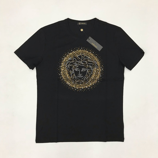 b5693824 Versace Embroidery Logo Mendusa Head Tee   Shopee Malaysia
