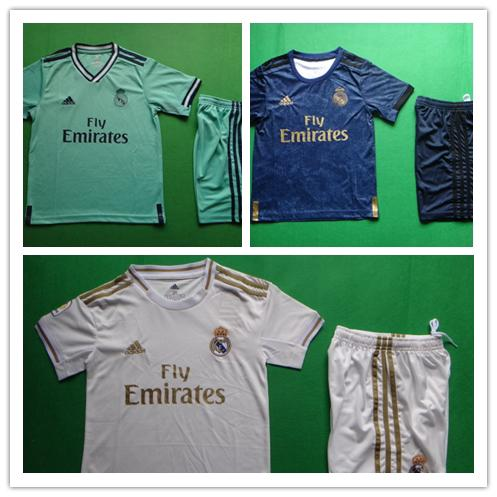 promo code 6ed51 2b422 19-20 Real Madrid Home White Away Blue Green Jersi Football ...