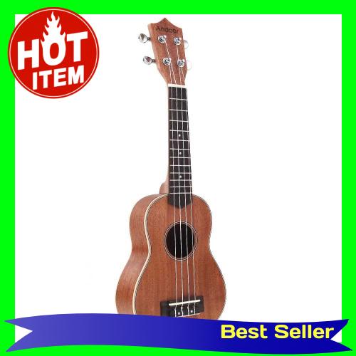 Andoer 21'' Compact Ukelele Ukulele Hawaiian Mahogany Aquila Rosewood Fretboard Bridge Soprano Stringed Instrument 4 St