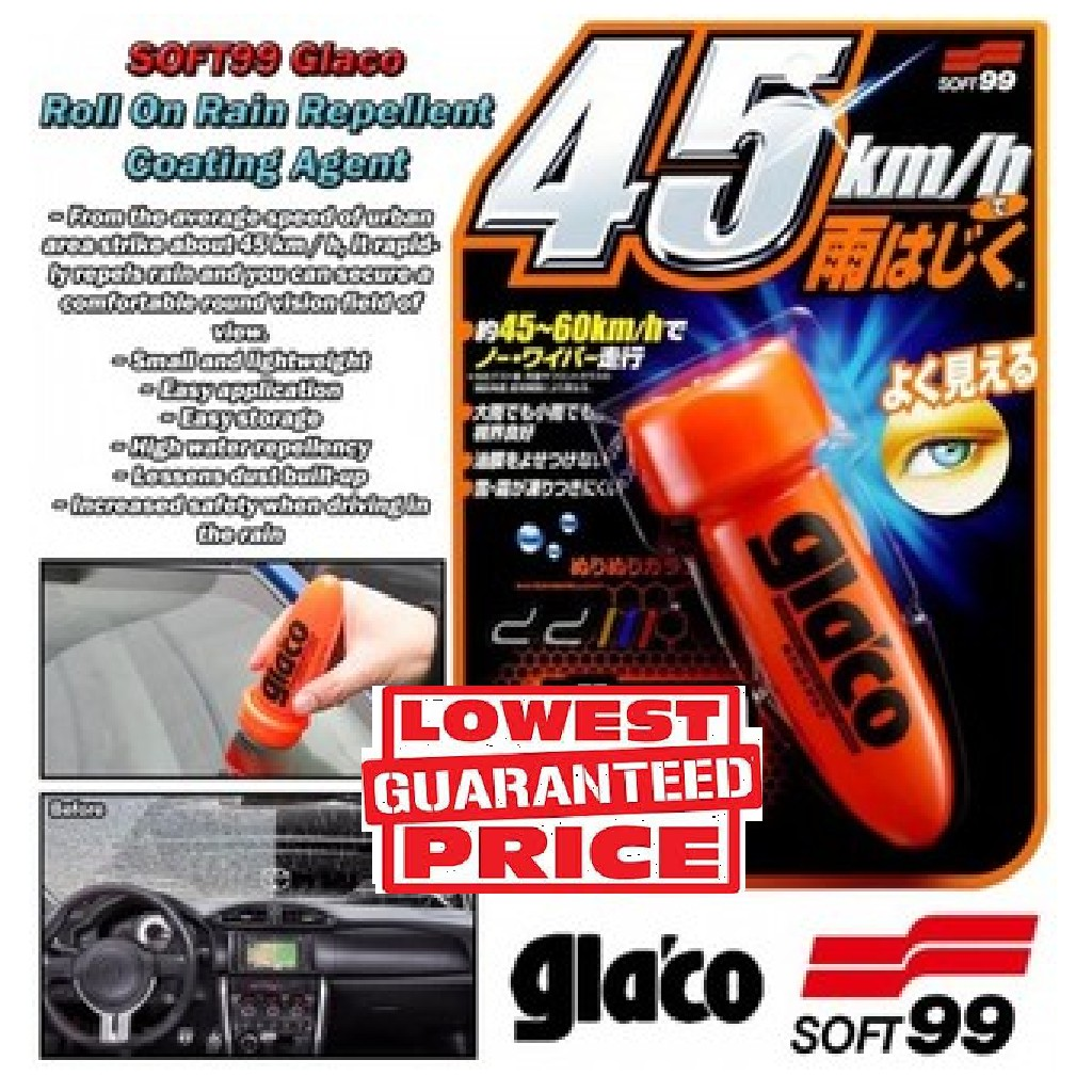 Glaco SOFT99 Roll On Type Car Windshield Glass Coating Water Repellant