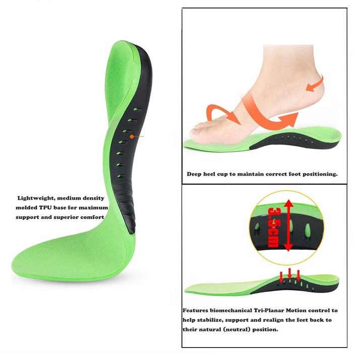 Unisex Orthotic Shoes Insole For Flat Feet Arch Support 1 Pair