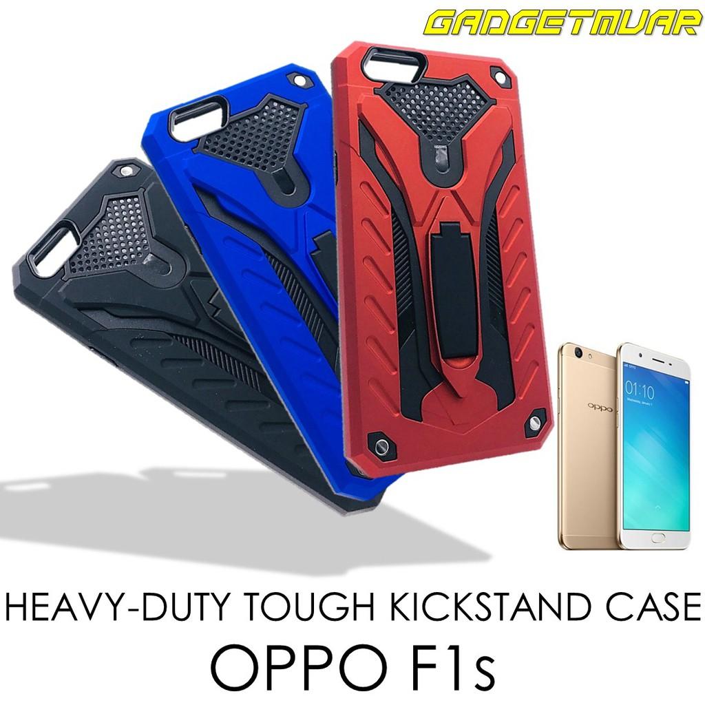 [READY STOCK] Heavy Duty Tough Armor Protection Kickstand Hard Case OPPO F1s