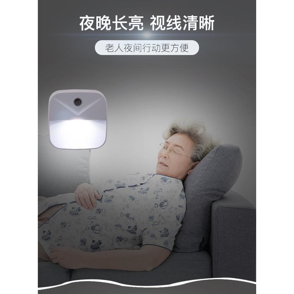 Intelligent sensor bedside lamp new strange creative gift LED lamp plug-in energy-saving light control night light