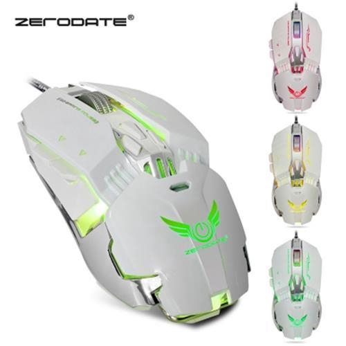 ZERODATE X800 WIRED GAMING MOUSE ADJUST WEIGHT 3200DPI (WHITE)