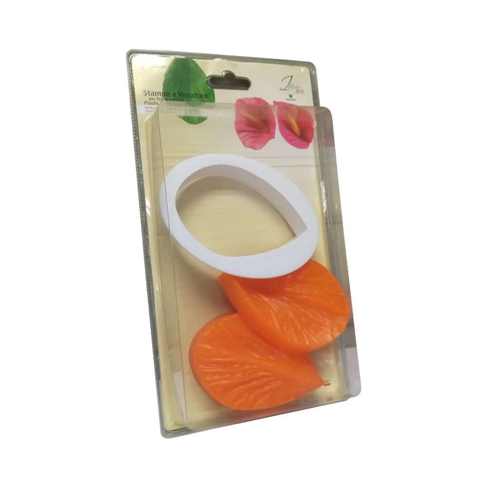 Martellato, Cake Art Cutter, Leaf 001, 3 pcs