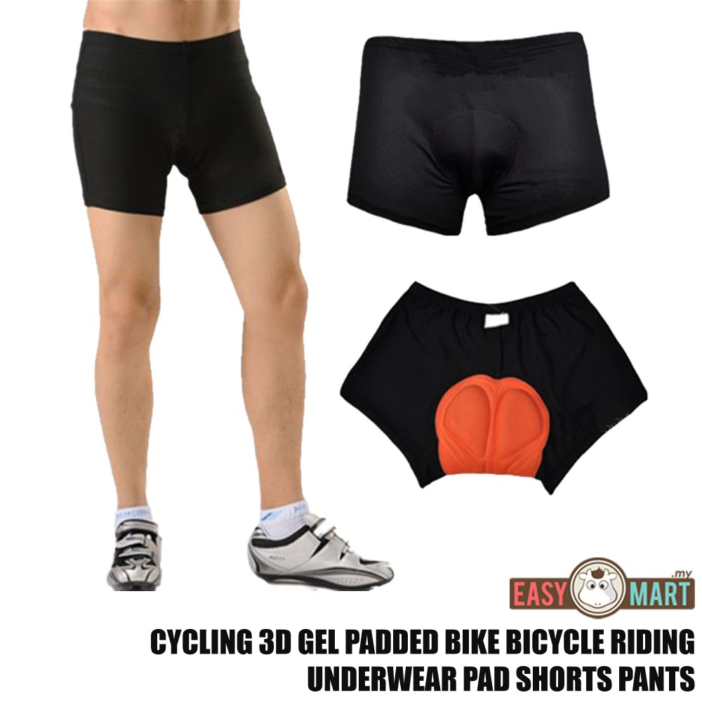 5d9ba32d40c Cycling 3D Sponge Padded Bicycle Underwear Pad Shorts Pants