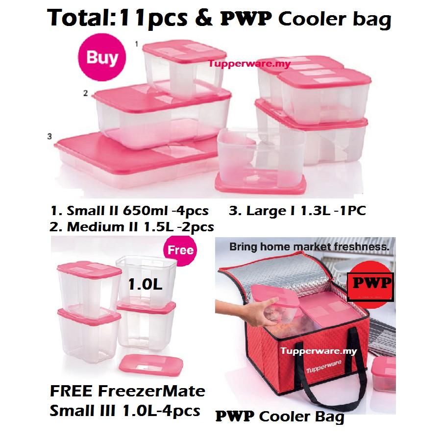 Tupperware Freezermate Set+PWP Cooler bag