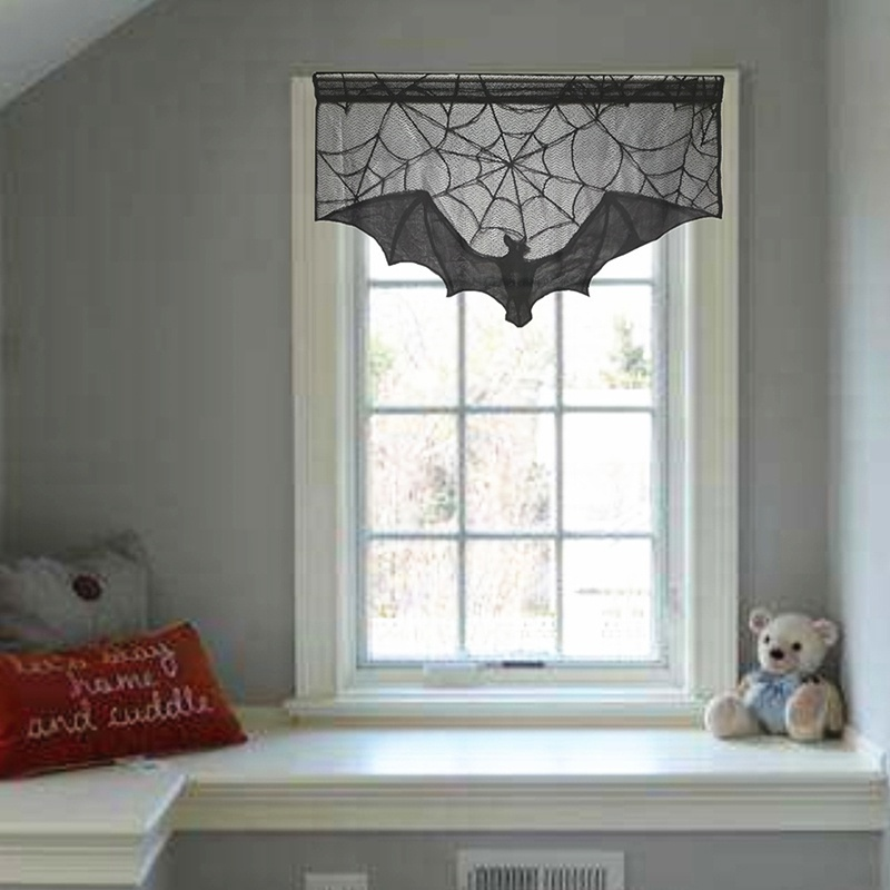 Stove Towel Lace Curtains Halloween Black Decor Kitchen Home Pelmet Living Room Voile Shopee Malaysia