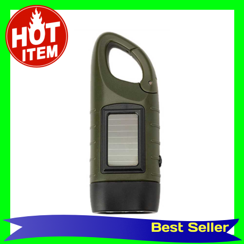 Outdoor Multifunctional LED Solar Power Mini Emergency Hand Crank Dynamo Flashlight Rechargeable Lamp Charging Powerful