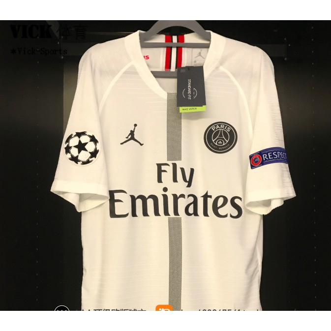 2019 Newest Psg Jordan Paris Saint Germain 3rd Away Football Jersey White Shopee Malaysia