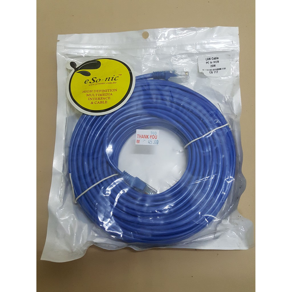 Shenggelan 2m 5m Length Cat 5e Cable Lan Network Internet Ethernet 6m Cat5e Rj45 Patch Lead Wire Shopee Malaysia
