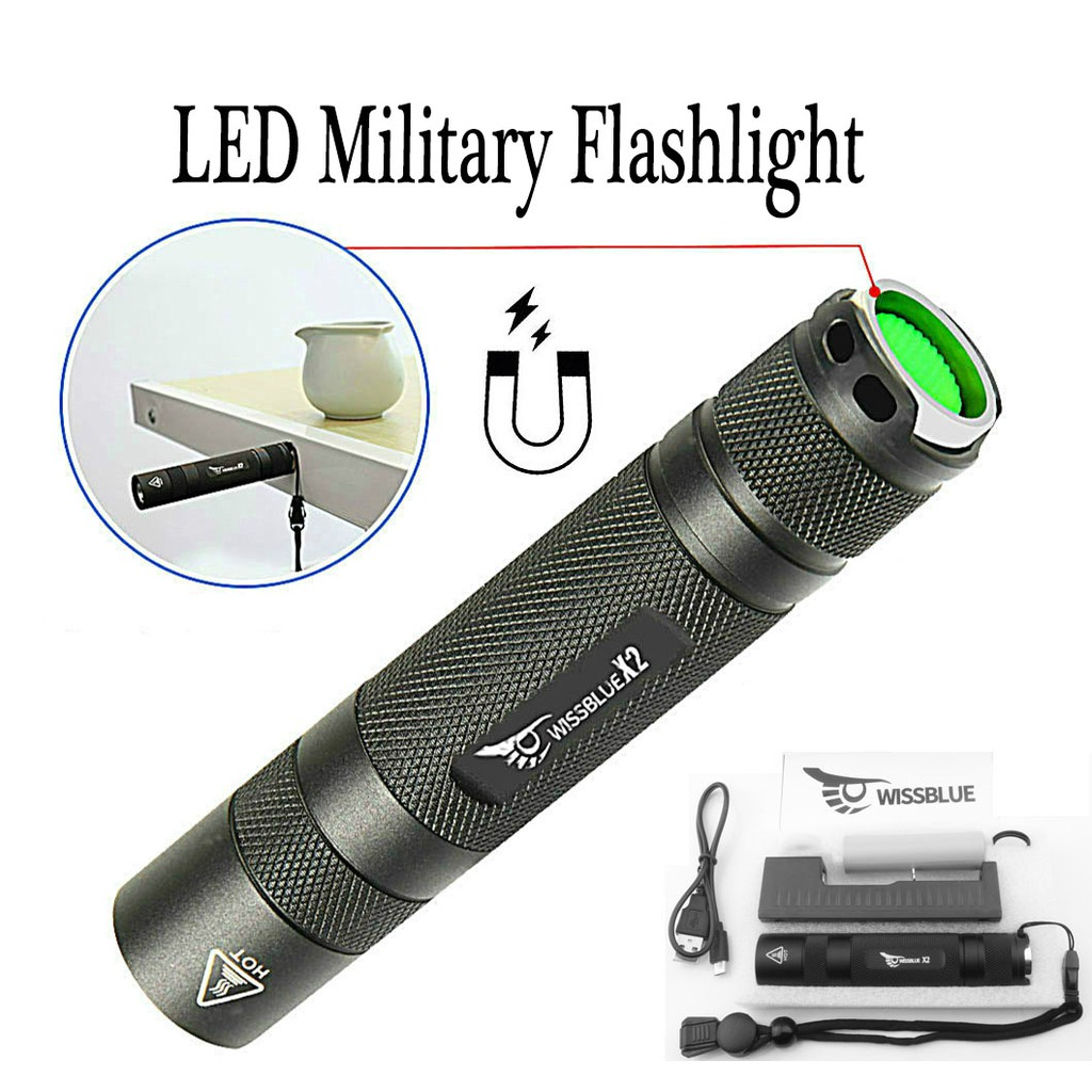 Portable LED Tactical Flashlight 18650 Rechargeable Lampu