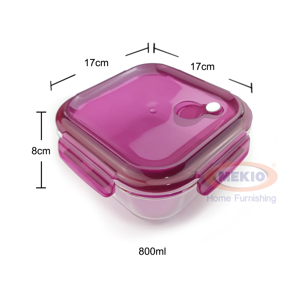 Food glass container E 1565 800ml