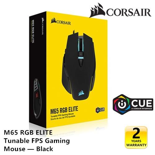 Corsair M65 RGB ELITE Tunable FPS Gaming Mouse - Black 18,000 DPI (  CH-9309011-AP )