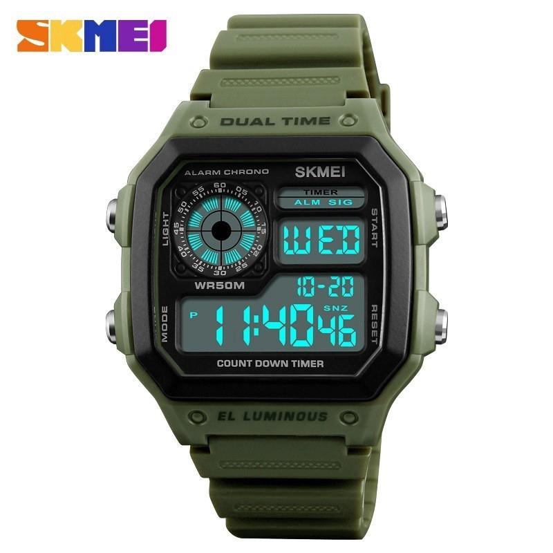 5a3c9269b51 SKMEI 1251 Men s Sports Double Time Watch Alarm Waterproof Wristwatches