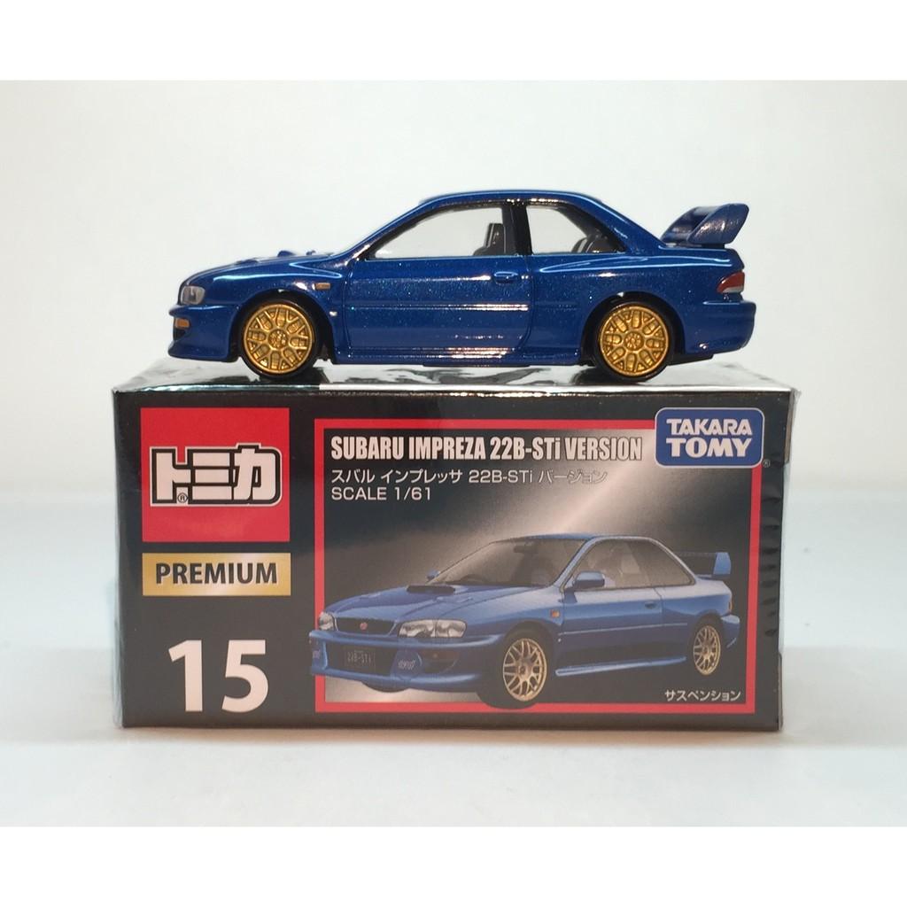 Takara TOMY Tomica Premium NO.15 Subaru Impreza 22B-Sti Version Scale 1//61