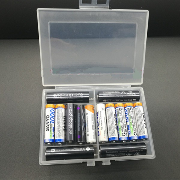 10 slot AAA AA cover 14500 Cases Storage Container Holder Hard Plastic Battery Casing box 10440 1.5v Batteries 10xAA gp