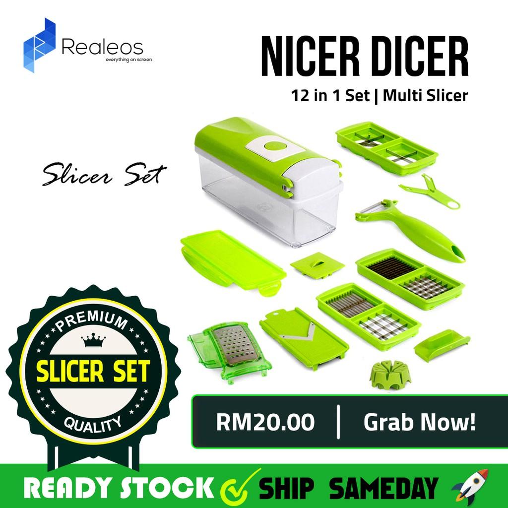 Nicer Dicer Plus Multipurpose Kitchen Tool Food Chopper Slicer ...
