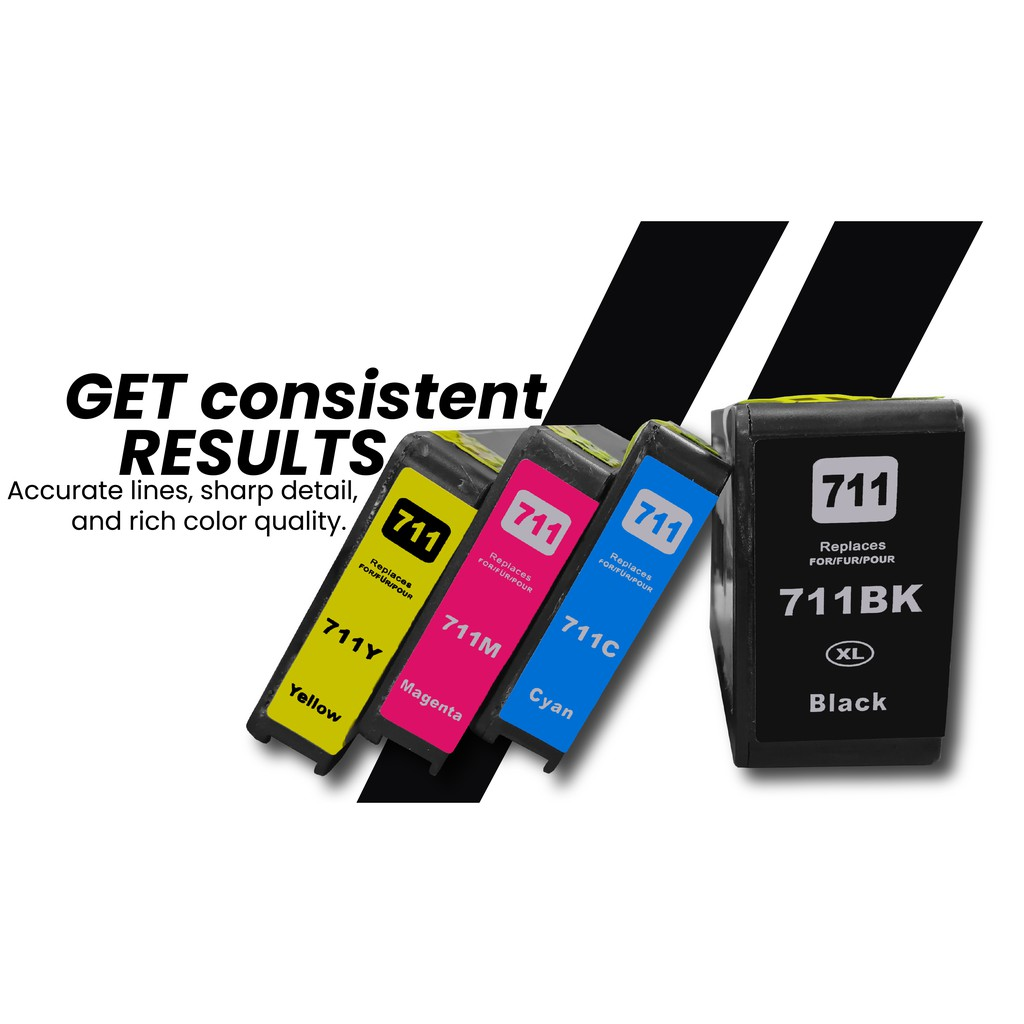 Remanufactured HP 711 Combo Colour Set Ink Cartridge For Use In DesignJet T120 T520 ePrinter Series - Jadi Life