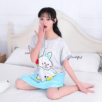 #Baju Tidur Sleepwear Cute Cartoon Skirt Pajamas