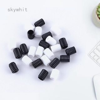 50//100PCS Elastic Band Stopper Shape Cord Locks Clip Ends Silicone Adjustable