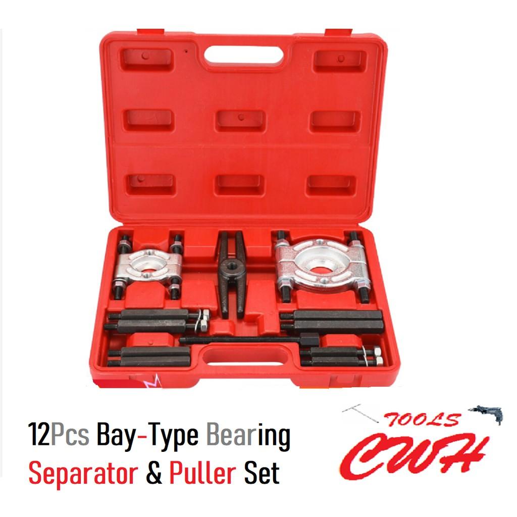 12Pcs Bay-Type Bearing Separator & Puller Set