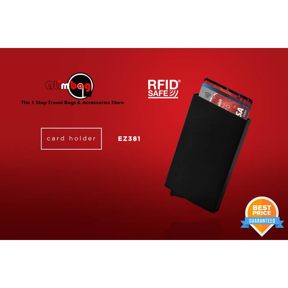more photos 9f87e 66b41 GadTech Aluminum RFID Blocking Anti Wave Credit Card Debit Card Holder EZ  381