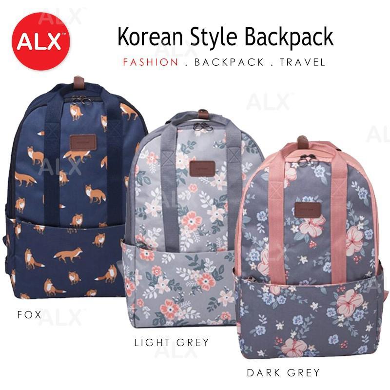 b1ce135e53 Korean College Student Rucksack Travel Backpack Laptop Bags Beg Sekolah 05