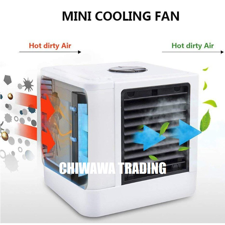 【5IN1】USB Air Con Conditioner Cooler Purifier Water Evaporative Fan Quick & Easy